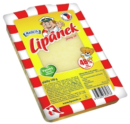 CHEESE GOUDA LIPÁNEK 48% 100G SLICES