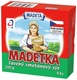 PROCESSED CHEESE MADETKA 45% 200G 4PCS