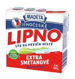 PROCESSED CHEESE LIPNO CREAMY 64% 200G 4PCS