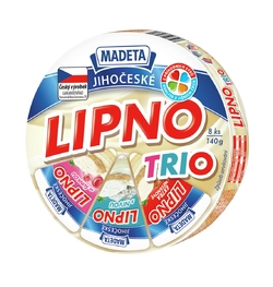PROCESSED CHEESE LIPNO TRIO 140G 8PCS