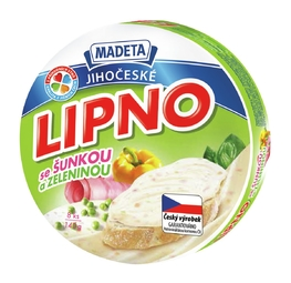 PROCESSED CHEESE LIPNO HAM, VEGET. 60% 140G 8PCS