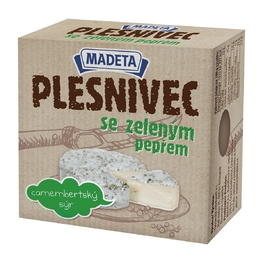 Soft cheese with white mould, green pepper 43% 80 g
